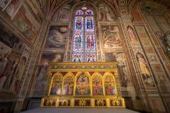 Uno degli altari in basilica di Santa Croce, Firenze Immagini Stock Libere da Diritti