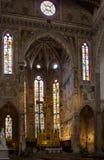 Uno degli altari in basilica di Santa Croce, Firenze Fotografia Stock Libera da Diritti