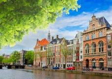 Uno dei canali a Amsterdam, l'Olanda Fotografia Stock Libera da Diritti
