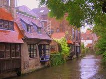 Uno dei canali a Bruges, il Belgio Immagini Stock Libere da Diritti