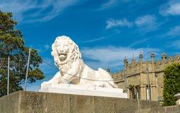 Uno dei leoni di Medici al palazzo di Vorontsov in Alupka, la Crimea immagini stock libere da diritti