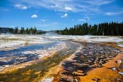 Uno dei molti paesaggi scenici del parco nazionale di Yellowstone, Fotografia Stock