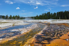 Uno dei molti paesaggi scenici del parco nazionale di Yellowstone, Fotografie Stock Libere da Diritti
