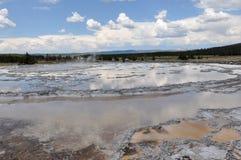 Uno dei molti paesaggi scenici del parco nazionale di Yellowstone, Immagini Stock