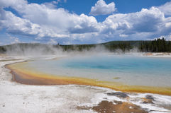 Uno dei molti paesaggi scenici del parco nazionale di Yellowstone, Fotografie Stock