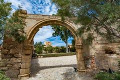 Uno dei portoni in Alcazaba di Almeria & di x28; Almeria Castle & x29; Immagini Stock Libere da Diritti