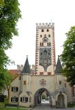 Uno dei portoni antichi a Fussen in Baviera (Germania) Immagine Stock