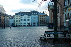 Uno dei quadrati, Copenhaghen, Danimarca Fotografie Stock