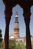 Uno dei siti del patrimonio mondiale dell'Unesco di Nuova Delhi tre, Qutub Minar, Nuova Delhi, India Immagini Stock