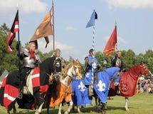 Cavalieri sul cavallo Immagine Stock