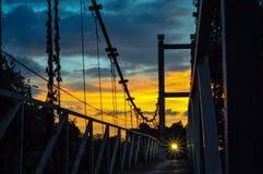 Uno del ponte piacevole in Chumphon, la Tailandia Immagine Stock