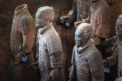 Uno del sito di eredità dell'Unesco; Guerrieri di terracotta; Tellus ristabilito Fotografia Stock