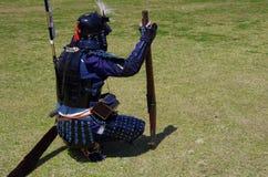 Uno della truppa giapponese anziana dell'arma da fuoco Fotografia Stock