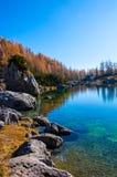 Uno della valle dei laghi Triglav in autunno Fotografia Stock