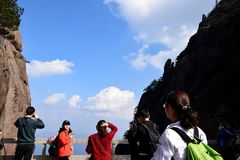 Uno di Huangshan Fotografia Stock Libera da Diritti