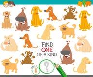 Uno di un compito educativo gentile con i cani illustrazione di stock