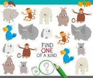Uno di un compito gentile per i bambini con gli animali royalty illustrazione gratis