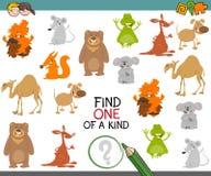 Uno di un gioco gentile con gli animali royalty illustrazione gratis