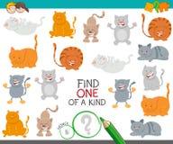 Uno di un gioco gentile con i gatti del fumetto illustrazione di stock