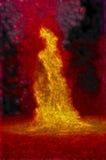 Uno di una serie di fiamme molto vive del falò Fotografia Stock Libera da Diritti