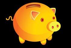 Uno-dinero-rectángulo-ser-uno-cerdo Fotos de archivo