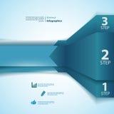 Uno, due, tre nastri dei informazione-grafici Immagine Stock