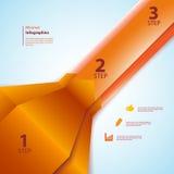 Uno, due, tre nastri dei informazione-grafici Fotografia Stock