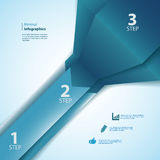 Uno, due, tre nastri dei informazione-grafici Immagini Stock