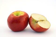 Uno e mezzo mela Fotografia Stock