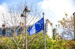 UNO-Flagge in Paris Stockfotos