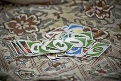 UNO kaarten Stock Foto's
