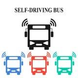 Uno mismo-conducción del autobús stock de ilustración