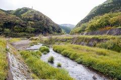 Uno River, Japan-Landschaft in Kameoka, Kyoto Stockfoto