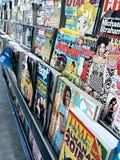 Uno scaffale di rivista locale Fotografia Stock Libera da Diritti