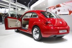 Uno scarabeo di Volkswagen su visualizzazione all'Expo automatica 2012 Fotografia Stock Libera da Diritti