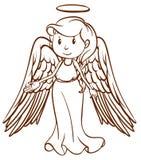 Uno schizzo semplice di un angelo Immagini Stock