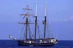 Uno schooner delle tre vele immagini stock