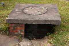 Uno scolo dell'acqua fotografie stock