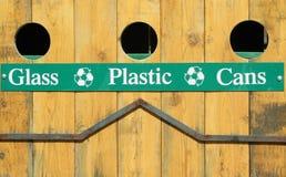Uno scomparto di riciclaggio esterno Immagini Stock Libere da Diritti