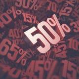 Uno sconto di cinquanta per cento Fotografia Stock Libera da Diritti