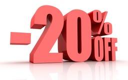 uno sconto di 20 per cento Immagini Stock Libere da Diritti