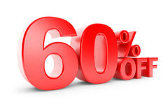 uno sconto di 60 per cento illustrazione vettoriale