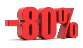 uno sconto di 80 per cento illustrazione di stock