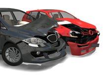 Uno scontro di due automobili Fotografia Stock Libera da Diritti