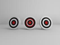 uno scopo di 3 obiettivi Immagine Stock