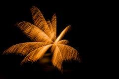 Uno scoppio dei fuochi d'artificio Fotografia Stock