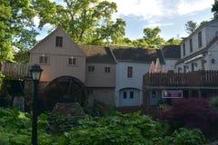 Uno sguardo a Jenny Grist Mill in Plymouth Massachusetts immagine stock libera da diritti