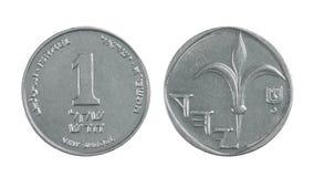 Uno shekel israeliano Fotografie Stock