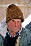 Uno shepard durante l'orario invernale Immagini Stock