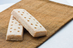 Uno shortbread dei due Scottish Fotografie Stock